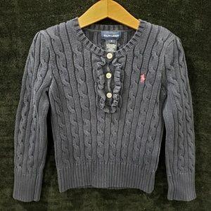6yrs Girls Ralph Lauren Polo Navy Sweater